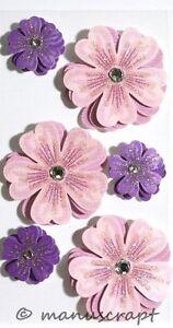 Artoz Artwork 3D-Sticker, Blumen lila/rosa