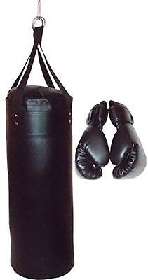 Boxsack mit Boxhandschuhen Sandsack Boxset Boxsport Boxen Neu