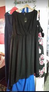 Torrid size 4 (26) uneven hemline black chiffon dress NEW PRICE