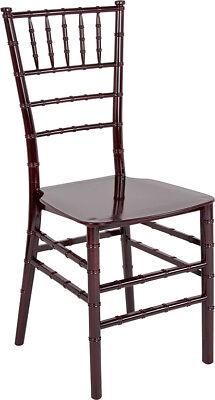 Mahogany Resin Chiavari Chair -Commercial Quality Stackable Wedding Venue Chair -