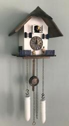 cuckoo clock black forest North Sea house quarz germany carved thatched roof