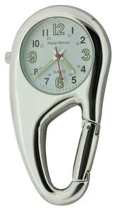 Clip-on-Carabiner-Style-Sprung-Nurses-Doctors-Fob-Watch-NW09A
