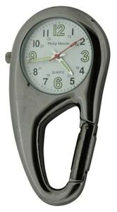 Clip-on-Carabiner-Style-Sprung-Nurses-Doctors-Fob-Watch-NW09B