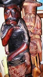 2 Large Crafted Wooden Statues Stratford Kitchener Area image 3