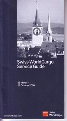 Swiss Airline Worldwide Timetable 2006