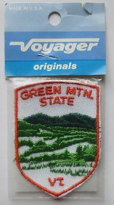 Vintage Voyager GREEN MTN. STATE VT. Patch Originals In Package