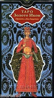 Tarot Cards - Golden Tarot of the Tsar Holy Icon 78 cards instruction Taro TC73