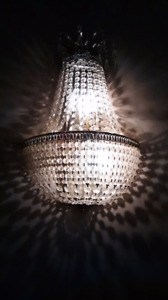 MUST be SOLD... antique Swarovski crystal wall Scones excellent