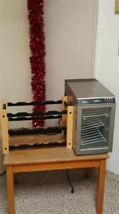 Lg computer chair/ Various Dishes /wine rack and wine chiller/