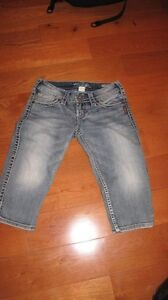 Silver capris new size 26 Stratford Kitchener Area image 1