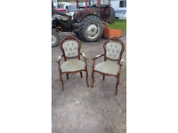 farm house, counrty style. bedroom carver chairs (ideal shabby chic or project)