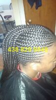 AFRICAN BRAIDS AND HAIRSTYLES AT HOME