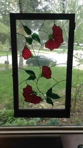 Framed Hanging Stained Glass