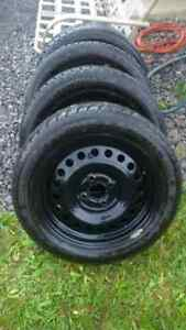 205/50 R16 snow tires and rims 4 Bolt, like new