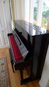 Upright piano - Yamaha U1 (black gloss) with piano stool Northbridge Willoughby Area Preview