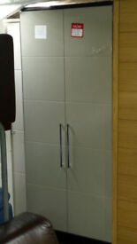 WARDROBE from SCS, John lewis or DFS Factory made grey black/grey high gloss 2 drs wardrobe