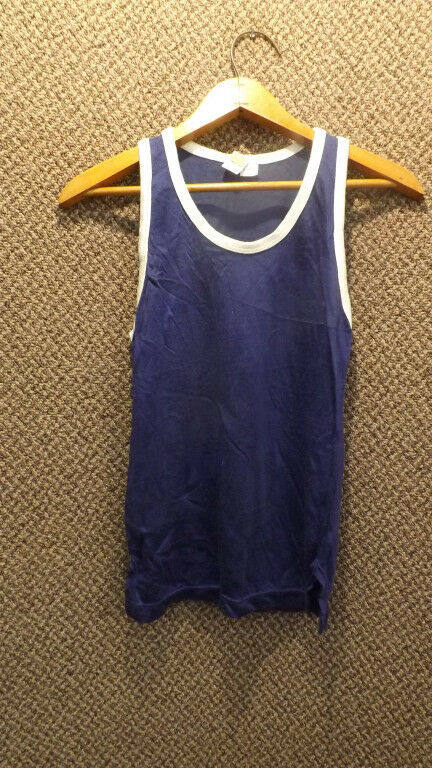 Vtg 50s NOS Russell Southern Basketball Jersey Tank Top  Youth sz XL