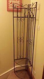 HALLWAY COAT STAND / SHOE RACK / SHELF / WARDROBE with 4 hooks, 2 shelves