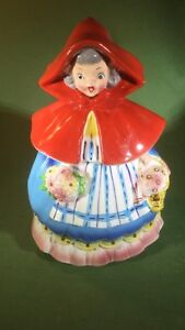 RARE-NAPCO LITTLE RED RIDING HOOD COLLECTOR COOKIE JAR  1957
