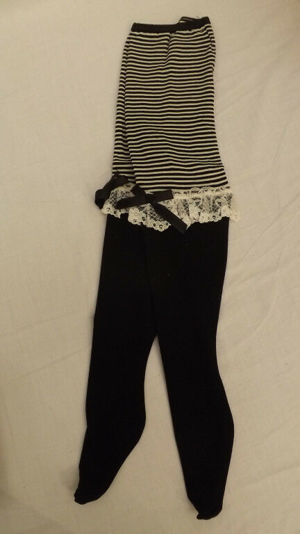 Vtg WHOOPIETITES Tights/Petti Pants Adorable Black/White w/Ruffles 7-10 NOS