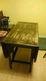 Antique Oak Gate Leg Table & Chairs