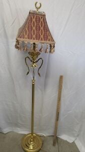 Brass Stand Floor Lamp Brass Table Lamp- both for $70
