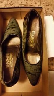 Black Velvet Vintage Italian Size 8 Shoes Salvatore Ferragamo Wagga Wagga 2650 Wagga Wagga City Preview