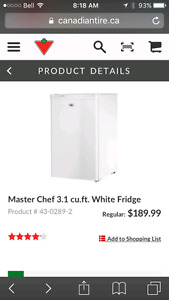 Master chef mini fridge