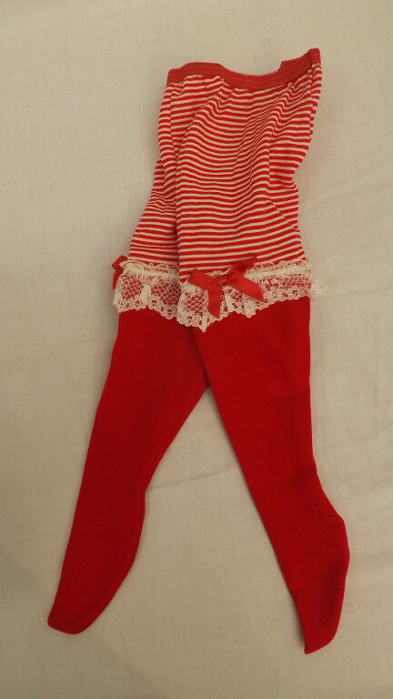 Vtg WHOOPIETITES Tights/Petti Pants Adorable W/ Ruffles 4-6X Christmas Red NOS
