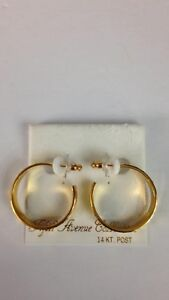 Fifth Avenue Collection 14kt Gold Post Earrings