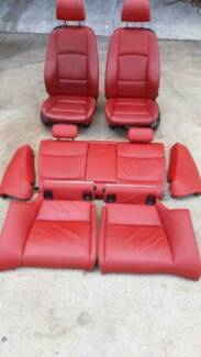 BMW E92 Coupe 335i Seats Red Leather Front and Rear Set Seven Hills Blacktown Area Preview