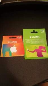$40 iTunes Gift Card