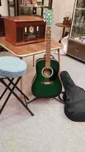 Art Lutherie Acoustic Guitar with Soft Case, Stand & Stool