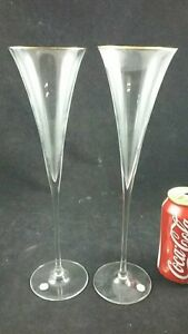 PAIR OF GERMAN CHAMPAGNE GLASSES