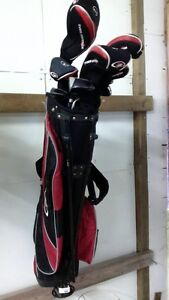 Golf clubs, golf shoes and golf bags