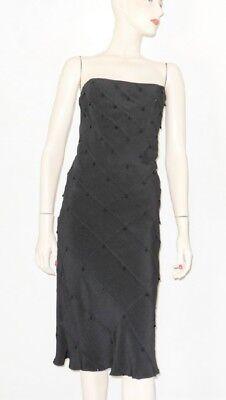 New TOM AND LINDA PLATT Black Briolette Beaded Dress With Shawl Sz. 14 - Toms And Dresses