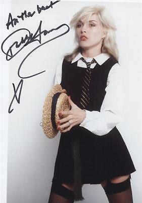 4 Photos Star Blondie Debbie Harry Preprint Signed 8x10 Autograph Picture Print
