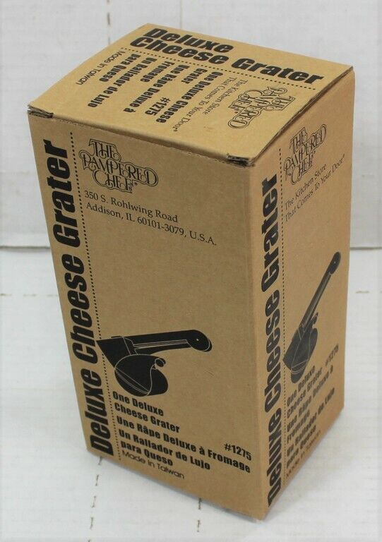 NEW IN BOX Pampered Chef Deluxe Cheese Grater #1275