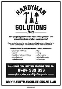 Handyman Solutions Perth West Perth Perth City Area Preview