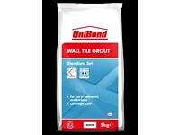 LESS THAN HALF PRICE - 3 x bags of UniBond Wall Tile Grout White 5kg