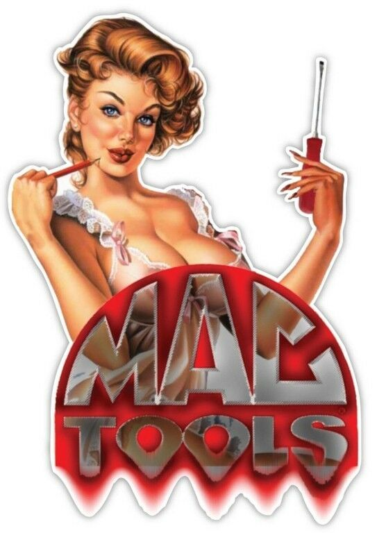 MAC TOOLS BEAUTIFUL LADY BUMPER STICKER LAPTOP STICKER HARD HAT STICKER TOOLBOX