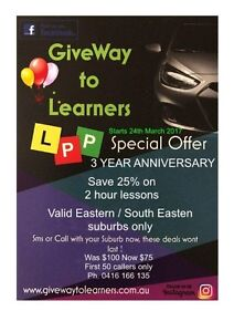 2 hour driving lessons save 25%  first 50 callers Melbourne CBD Melbourne City Preview