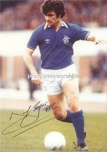 DAVIE COOPER SIGNED (PRINTED) RANGERS FC SCOTLAND MOTHERWELL FC