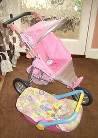 Baby Born Jogger, Car Seat, Doll & Accessories