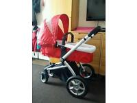 Red Mothercare My 4 pram