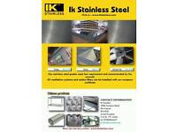 Stainless sheet canopies and extractor fans