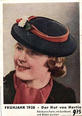 12161/ Werbe AK, Der Hut von Hertie, Frühjahr 1938