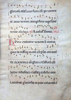 GOTHIC ANTIPHONAR MANUSCRIPT PERGAMENT GRADUALE INITIALEN ITALIEN UMBRIEN 1450