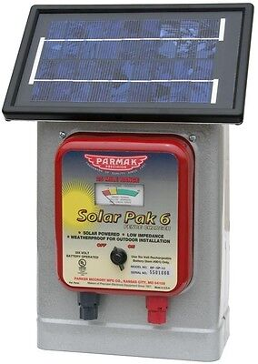 Parmak Solar Powered Electric Fence Charger DF-SP-LI 6V 25 Mile