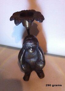 Chandelier-statuette en brass vintage